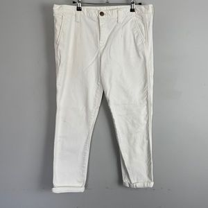 Gap cropped skinny jeans white